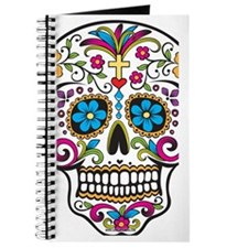 SugarSkull Halloween White Journal