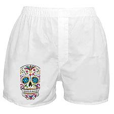 SugarSkull Halloween White Boxer Shorts