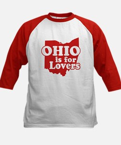 Ohio is for Lovers Kids Baseball Jersey