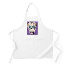 Sugar Skull Halloween Purple Apron