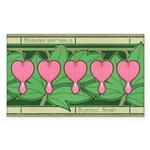 Bleeding Heart Rectangle Sticker