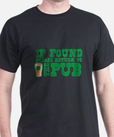 If found please return to the PUB with a pint glas