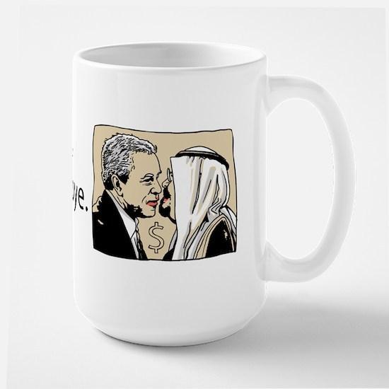 Bush Kiss Gas Prices Large Mug