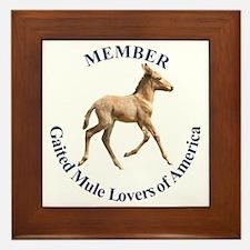 Gaited Mule Lovers of America Framed Tile