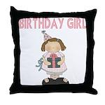 Birthday Girl Throw Pillow
