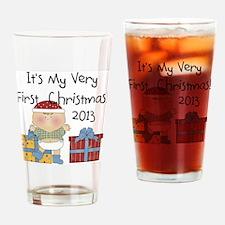 2013 Boy First Christmas Drinking Glass