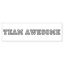 Team Awesome Bumper Car Sticker