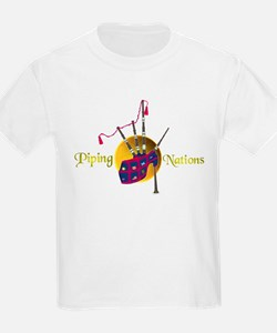 Piping Nations. T-Shirt