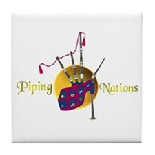 Piping Nations. Tile Coaster