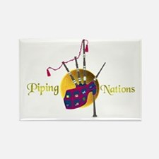 Piping Nations. Rectangle Magnet