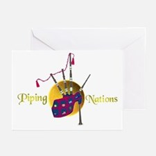 Piping Nations. Greeting Cards (Pk of 10)