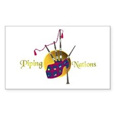Piping Nations. Rectangle Decal