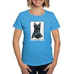 Scottish Terrier Scotty Art Women's Dark T-Shirt