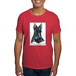 Scottish Terrier Scotty Art Dark Colored T-Shirt