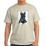 Scottish Terrier Scotty Art Light T-Shirt