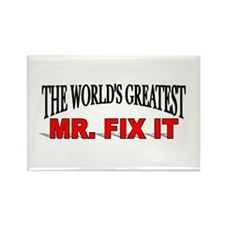"""The World's Greatest Mr. Fix It"" Rectangle Magnet"