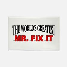 """""""The World's Greatest Mr. Fix It"""" Rectangle Magnet"""