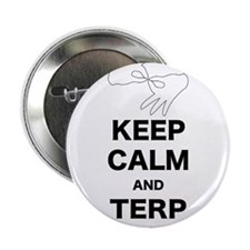 """Keep calm and Terp on 2.25"""" Button"""