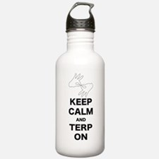 Keep calm and Terp on Water Bottle
