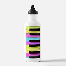 Piano Keys Neon Sports Water Bottle