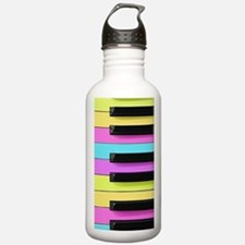 Piano Keys Neon Water Bottle