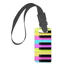 Piano Keys Neon Luggage Tag