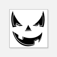 "Jack O Lantern Square Sticker 3"" x 3"""