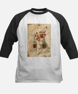 Vintage Map of The British Isles ( Baseball Jersey