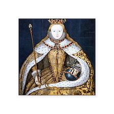 """Elizabeth I Coronation Square Sticker 3"""" x 3"""""""