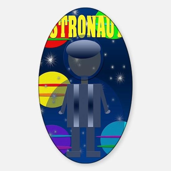 Astronaut Sticker (Oval)