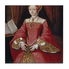 Young Princess Elizabeth Tile Coaster