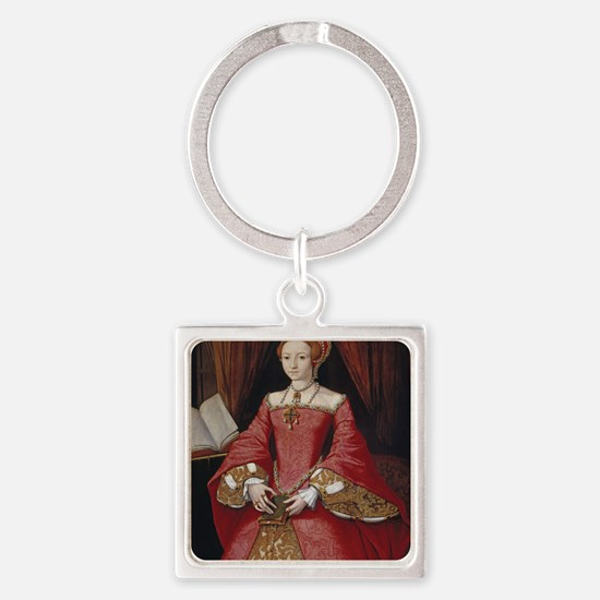 Young Princess Elizabeth Square Keychain