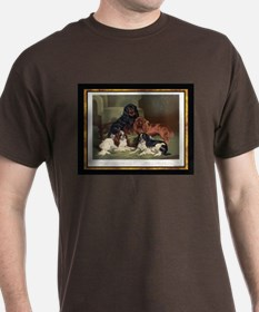 Antique Toy Spaniels Dark Colored T-Shirt