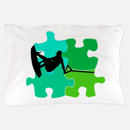 WAKEBOARD PUZZLED Pillow Case