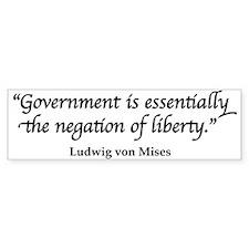 Mises Quote Bumper Bumper Sticker