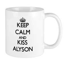 Keep Calm and kiss Alyson Mugs