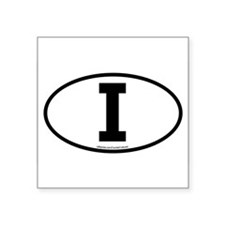 """I"" Italian Euro Flag 1 Oval Sticker"