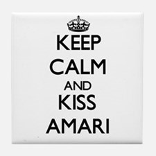 Keep Calm and kiss Amari Tile Coaster