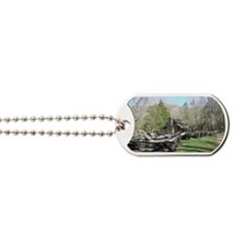 Mountain Log Cabin Dog Tags