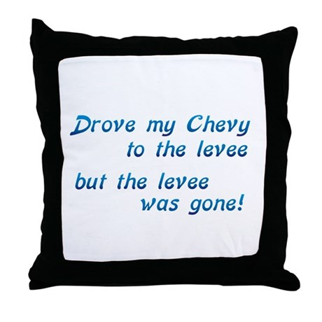 Chevy to the Levee Throw Pillow
