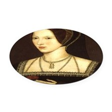 Anne Boleyn Oval Car Magnet