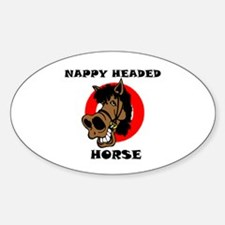 NAPPY HO Oval Decal