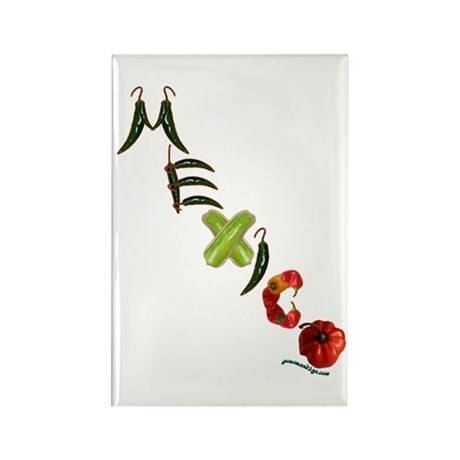 Mexico Chilis Rectangle Magnet (100 pack)