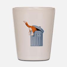 Cat in Trash Can Shot Glass