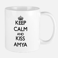 Keep Calm and kiss Amya Mugs