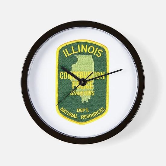 Illinois Game Warden Wall Clock