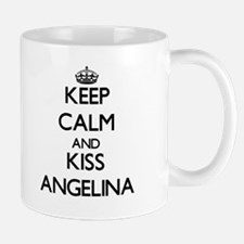 Keep Calm and kiss Angelina Mugs