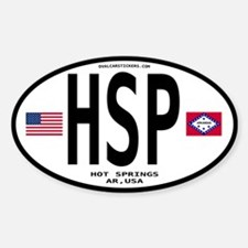 Hot Springs Euro Oval Oval Decal