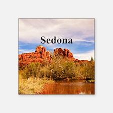 """Sedona_6x6_v1_CathedralRock Square Sticker 3"""" x 3"""""""