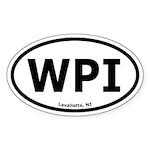 West Point Island, NJ Oval Car Sticker